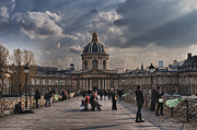 Pont Des Arts Posters - Pont des Arts and the Institut de France  Poster by Deborah Simpson