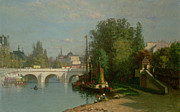 Paris Paintings - Pont du Carrousel by JJ Enneking