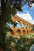Lead Framed Prints - Pont du Gard Framed Print by Inge Johnsson