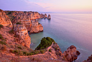 Algarve Posters - Ponta Da Piedade Sunrise Poster by Monica and Michael Sweet