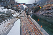 Winter Travel Art - Ponte dei Salti by Joana Kruse