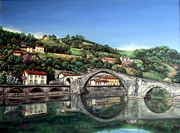 Riviere Paintings - Ponte Del Diavolo a Lucca by Paola Vincenti