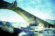 Handmade Digital Art Prints - Ponte Gobbo Print by Andrea Barbieri