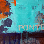 Aqua Mixed Media - Ponte by Linda Woods