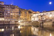Balcony Posters - Ponte Vecchio at Night Poster by Andre Goncalves