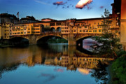 Ponte Vecchio Photos - Ponte Vecchio from west  by Harry Spitz