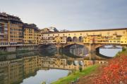 Michelangelo Framed Prints - Ponte Vecchio in Florence Framed Print by Andre Goncalves