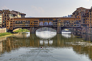 Arno River Framed Prints - Ponte Vecchio Framed Print by Joana Kruse