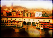 Graphical Digital Art Originals - Ponte Vecchio by Li   van Saathoff