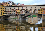 Ponte Vecchio Photos - Ponte Vecchio Reflects. by Terence Davis