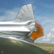 Cornfield Originals - Pontiac Chieftain Hood Ornament by Andrea Kelley
