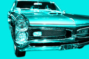 Cyan Digital Art Prints - Pontiac GTO Cyan Print by Wingsdomain Art and Photography