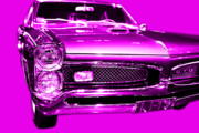 Popart Digital Art Metal Prints - Pontiac GTO Magenta Metal Print by Wingsdomain Art and Photography