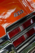 Muscle Car Photos - Pontiac GTO Taillight Emblem 3 by Jill Reger