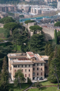 Italy Photo Prints - PONTIFICIO COLLEGIO ETIOPICO pontifical ethiopian college vatican city gardens rome italy Print by Andy Smy