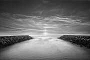 White River Prints - Ponto Jetties Print by Larry Marshall