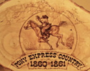 Pony Pyrography Framed Prints - Pony Express Country Framed Print by Jerrywayne Anderson