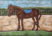 Folk  Paintings - Pony by Rain Ririn