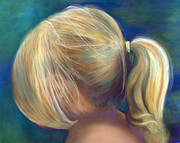 Ponytail Pastels Prints - Ponytail Print by Sharon Allen