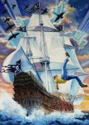 Tall Ship Prints - Pooka Hill 11 Print by Hanne Lore Koehler