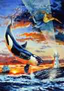 Whale Paintings - Pooka Hill 12 by Hanne Lore Koehler