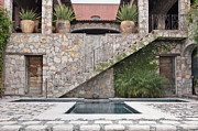 Luna Art - Pool and Steps to the Casa Luna Ranch by Rob Tilley