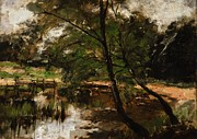 Pond Paintings - Pool at Polling Bavaria by Frank Duveneck