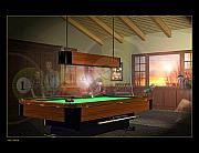 9ball Framed Prints - Pool Ghosts Framed Print by Draw Shots
