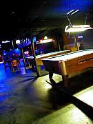 Night Scene Prints - Pool Hall Print by Elizabeth Hoskinson