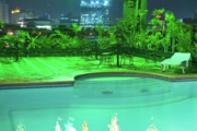 Cebucity Prints - Pool with City Lights Print by James Bo Insogna