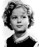 Colbw Acrylic Prints - Poor Little Rich Girl, Shirley Temple Acrylic Print by Everett