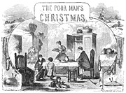 Christmas Eve Art - Poor Mans Christmas, 1855 by Granger