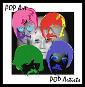 Beatles Mixed Media - Pop Art ... Pop Artists by Samuel Veta