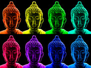 Buddha Photos - Pop art buddha  by Fabrizio Troiani