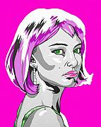 Natalie Portman Prints - Pop Art Portman Print by Sarah Crumpler
