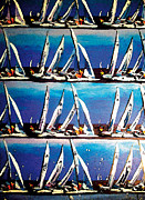 Sports Art Mixed Media Posters - Pop Art Sails Poster by Gerald Herrmann
