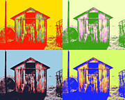 Popart Framed Prints - Pop Art Shed Framed Print by Philip Sweeck