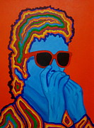 Peter Max Framed Prints - Pop Dylan Framed Print by Pete Maier