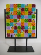 Quilt Glass Art Framed Prints - Pop Framed Print by Mark Lubich