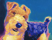 Portrait Commissions Paintings - Pop Wire Hair Fox Terrier by Shawn Shea