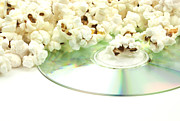 Disc Photo Prints - Popcorn and movie  Print by Blink Images