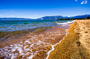 Blue Photos - Pope Beach Lake Tahoe California by Scott McGuire