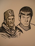 Spock Paintings - Pope Innocent X and Mr. Spock by Jeremiah Cook