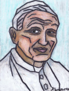 Catholic Pastels Prints - Pope John Paul II Print by Kamil Swiatek