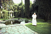 Clergy Photos - Pope John Paul Ii Walks Alone by James L. Stanfield