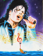 King Of Pop Prints - Popking Michael Jackson Print by Ragunath Venkatraman
