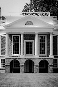 Poplar Forest Photo Metal Prints - Poplar Forest South Portico BW Metal Print by Teresa Mucha