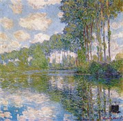 Impressionistic Art Posters - Poplars on the Epte Poster by Extrospection Art