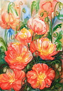 All Poppies Paintings - Poppies 2 by Phong Trinh