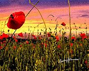 Anthony Caruso Framed Prints - Poppies Framed Print by Anthony Caruso